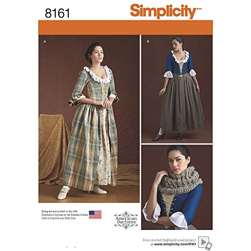 Simplicity Creative Patterns 8161 Misses' 18th Century Costumes, R5 (14-16-18-20-22)