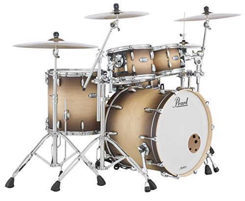 Pearl Masters Maple Complete MCT924XEDP/C351 4 Piece Drum Shell Pack, Natural - Burst Tom Floor
