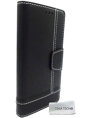 271ae1e66632 CEKA TECH Etui Housse Folio Condor Griffe T1 - Couleur Noir Universelle  Protection de qualité