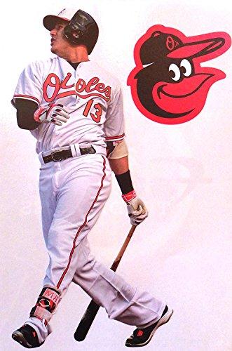 FATHEAD Manny Machado Mini Baltimore Orioles Logo Official MLB Vinyl Wall Graphics 7