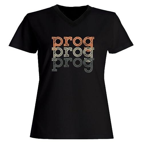 Idakoos Prog repeat retro - Musica - Maglia a V-collo Donna