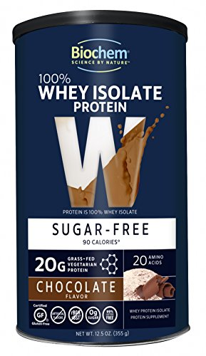 Biochem 100% Whey Sports Nutritional Drink, Chocolate Fudge,  Sugarfree, 12.5 Ounce