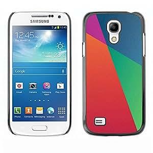TopCaseStore / la caja del caucho duro de la cubierta de protección de la piel - Blue Wallpaper Orange Purple - Samsung Galaxy S4 Mini i9190 MINI VERSION!