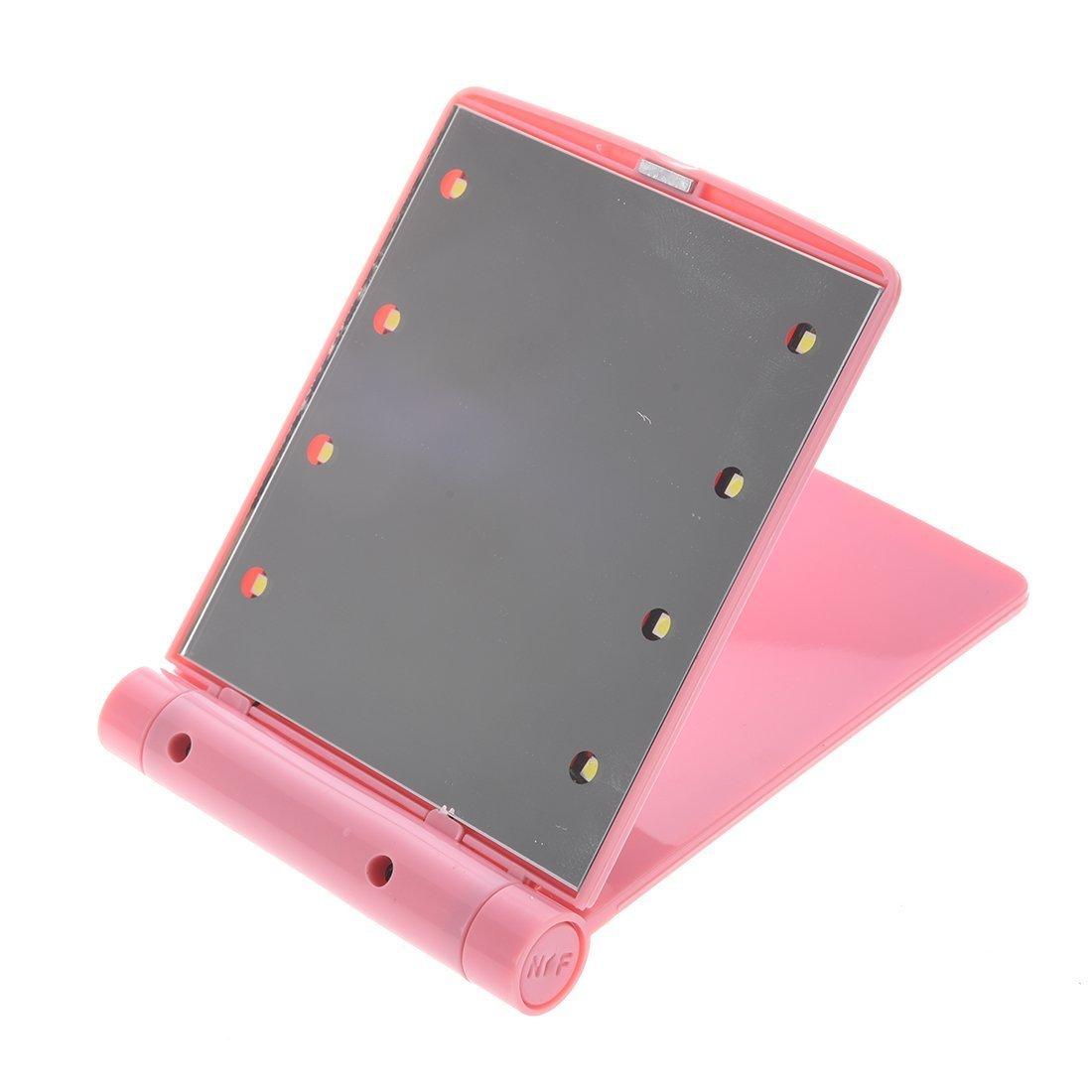 SODIAL(R) LED Taschen Handtasche Compact Make up Spiegel mit