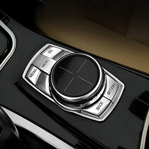 Cikuso Para BMW X1 X3 X5 X6 1//2//3//4//5//6//7 Serie Recorte De Decoraci/ón De Marco De Perilla De Cubierta De Bot/ón De Multimedia De Coche