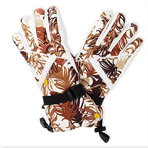 - ICOLOR Snowboarding Gloves Winter Warm Ski Golve for Outdoor Sports Skiing Sledding Warm Windproof Bicycle Cycling Snow Snowboard Snowmobile Golve (Pink)