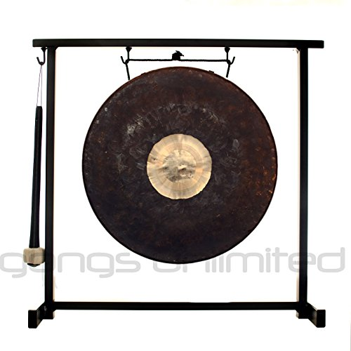12'' Dark Star Gong on the Zildjian Table-Top Gong Stand (P0561) by Gongs Unlimited