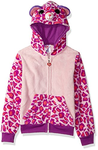 TY Beanie Boos Girls' Little Beanie Boos Zip Up Hoodie, Purple, 4/5