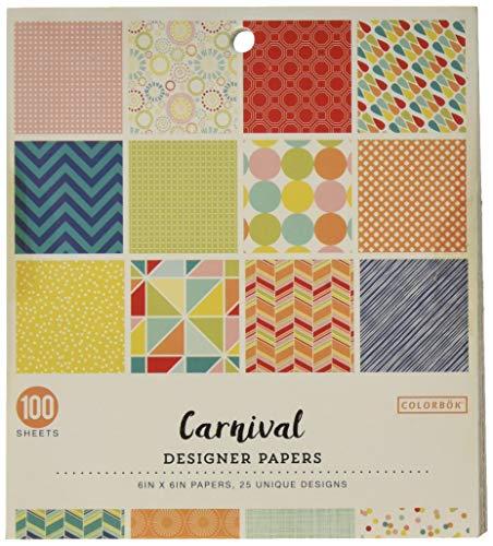 Colorbok Carnival Designer Paper Pad, 6