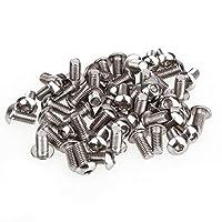 DN M5 Thread 304 Stainless Steel Head Hex Socket Cap Screws Bolts (Pack Of 50)