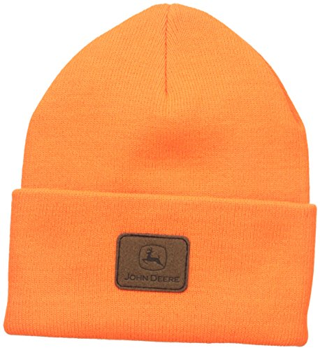 john-deere-mens-solid-beanie-orange-one-size