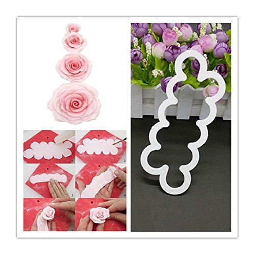 Silicone 3D Rose Flower Fondant Cake Chocolate Sugarcraft Mould Mold Decor Tool from Unknown