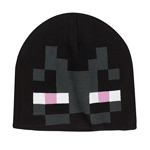 JINX Minecraft Enderman Face Knit Beanie, Black, One Size]()