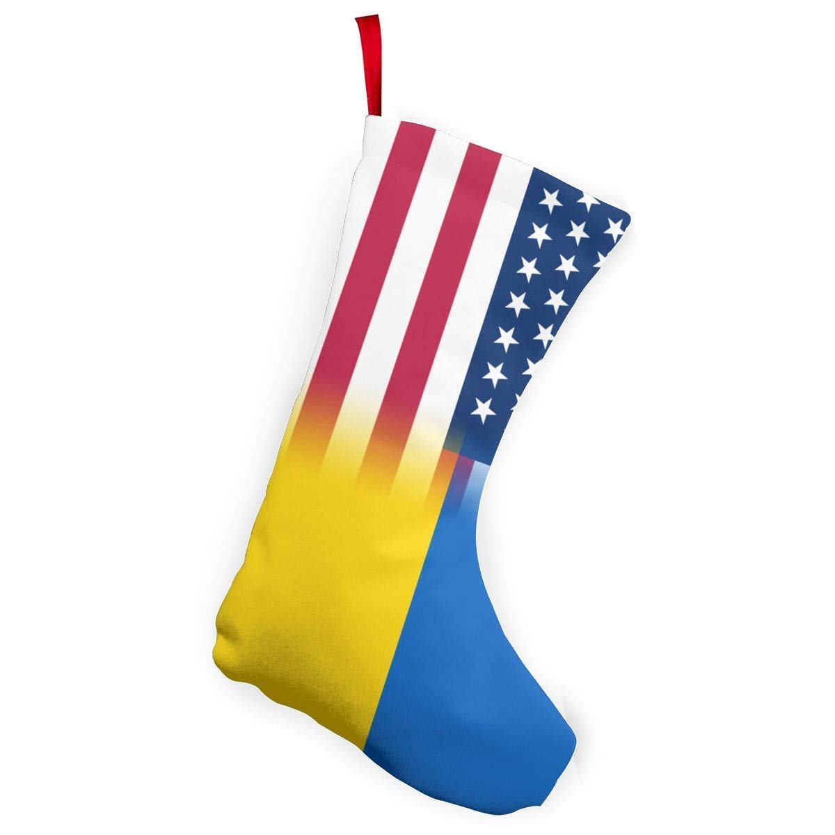 But why miss USA Ukraine Flag Christmas Stocking Santa Claus Gift Party Accessory Xmas Tree Decor Festival Party Ornament