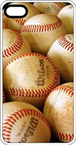 Lot Of Yankee Baseballs White Plastic Case for Apple iPhone 5 or iPhone 5s