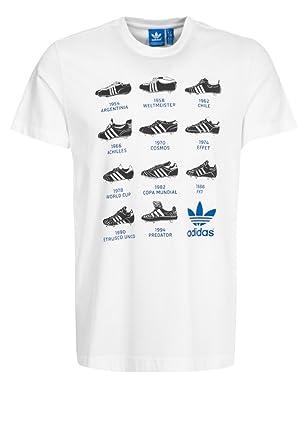 8b318bd29986 Mens BOOT HISTORY Printed T-shirt white | adidas Originals (XS ...