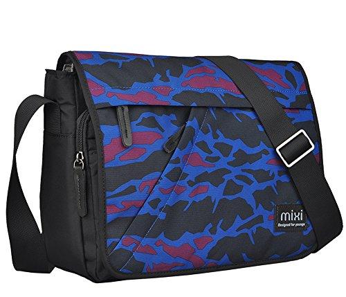 Everdoss Herren Nylon casual Umhängetasche klein Schultertasche Messenger Bag Freizeittasche Schultasche Tarnung 3 TJ1HdncFC