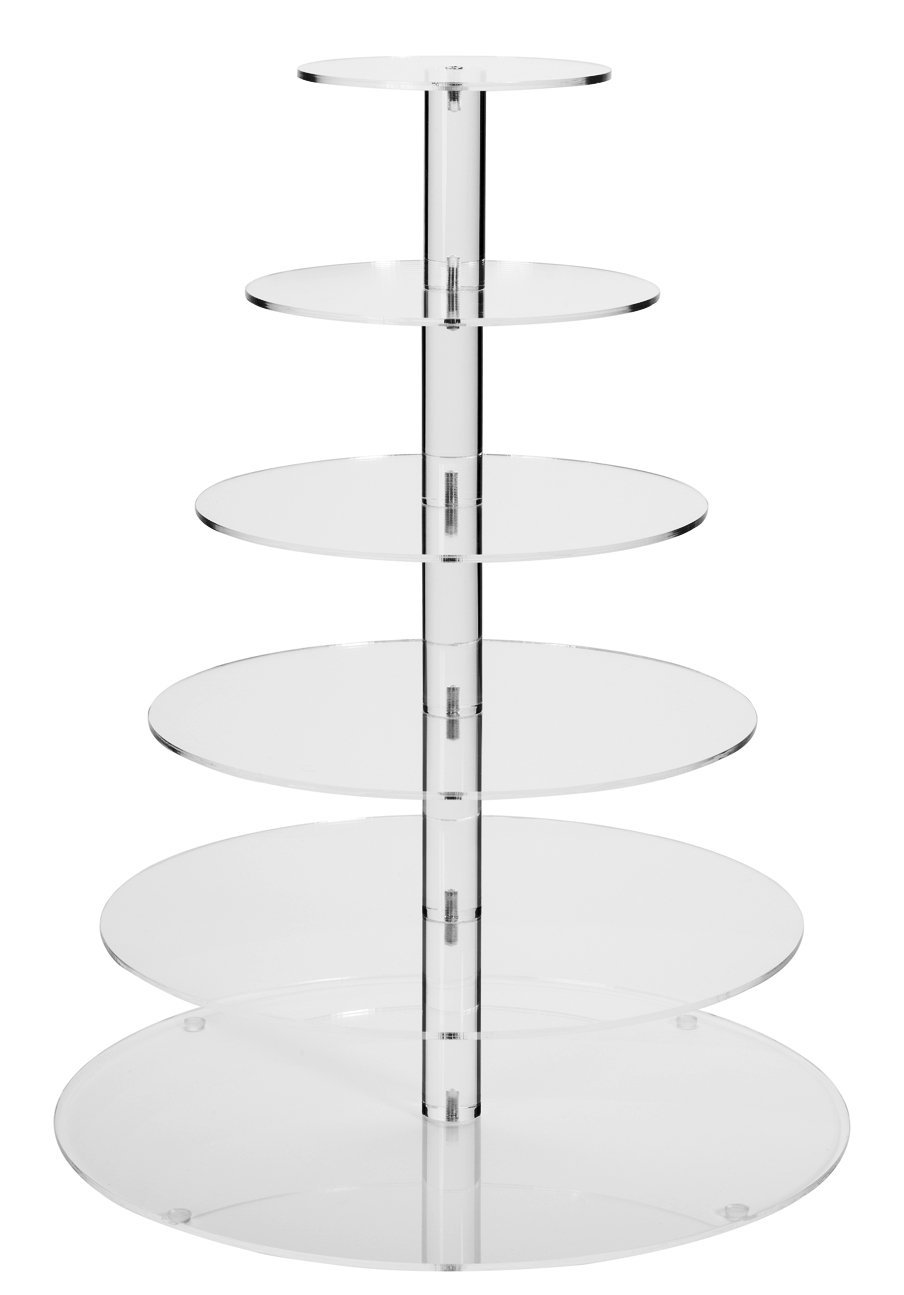 Jusalpha 6-Tier Strong Acrylic Cupcake Stand Tree Tower Dessert Display