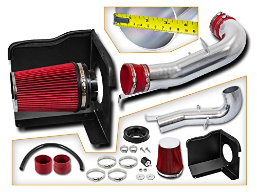 Cold Air Intake System with Heat Shield Kit Filter Combo RED Compatible For 07-08 Cadillac Escalade 5.3L//6.0L