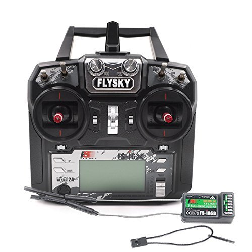 Flysky FS-i6X 10CH 2.4GHz AFHDS RC Transmitter w/ FS-iA6B Receiver (Best Rc Transmitter Under 100)