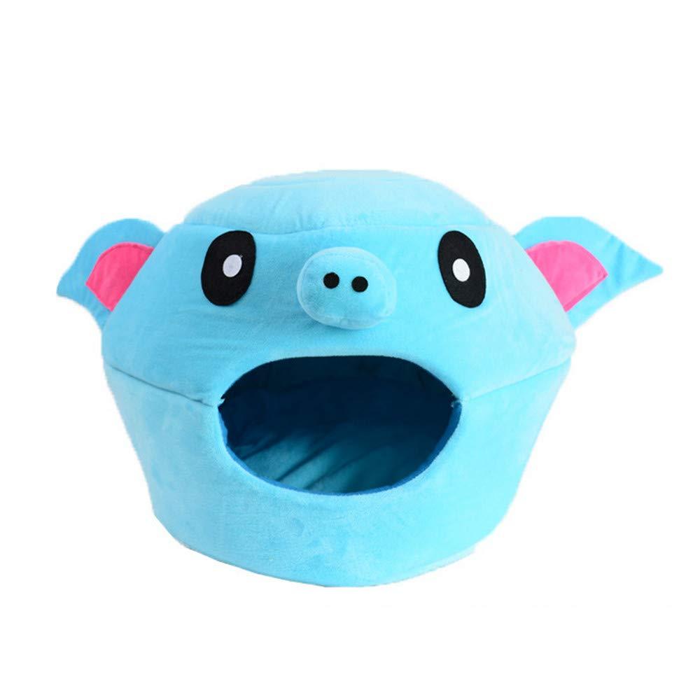 40x33x28 cm Mzdpp Cute Pig Head Cave Igloo Pet Cat Nest Soft Dog Bed Washable 3 Size 40  33  28 Cm