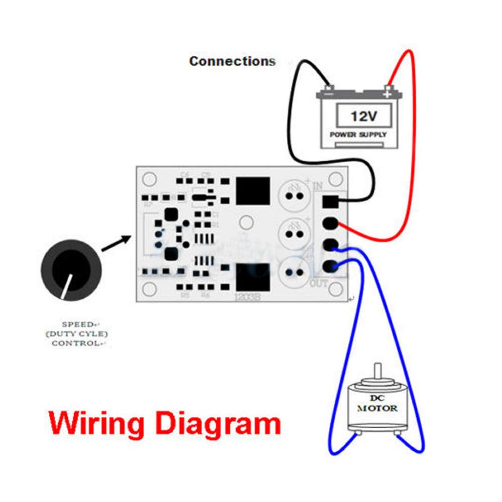 Absolute Native Electronics Pwm Dc Motor Speed Controller National Washing Machine Wiring Diagram Switch Module 6v 12v 24v 28v 3a 1203b