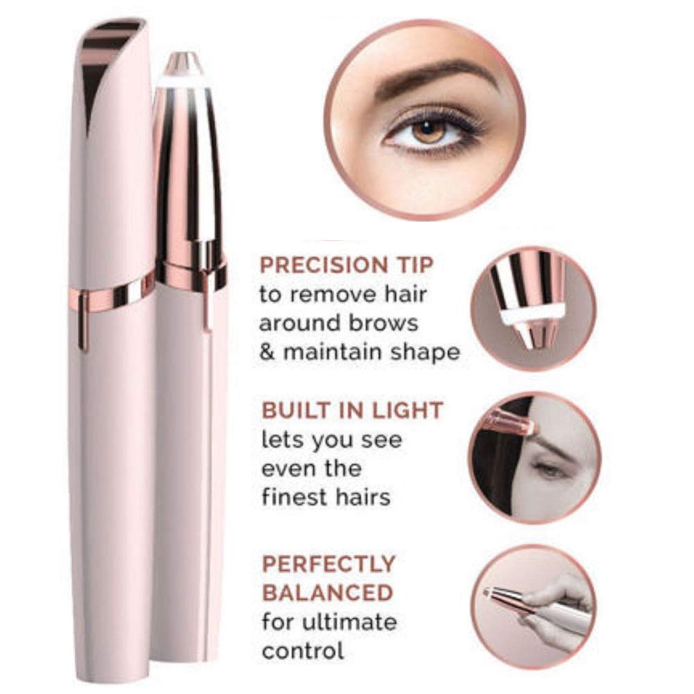 Flawlessly Brow Hair Remover - Brows Best Eyebrow Trimmer Women Painless Hair Remover, Flawlessly Eyebrow Remover As Seen On TV by Life In Color (Image #6)