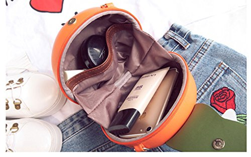 Shaped Purse Body Women Clutch Pu MILATA Leather Orange Cross Fruit Bag wUCnWEpqcA