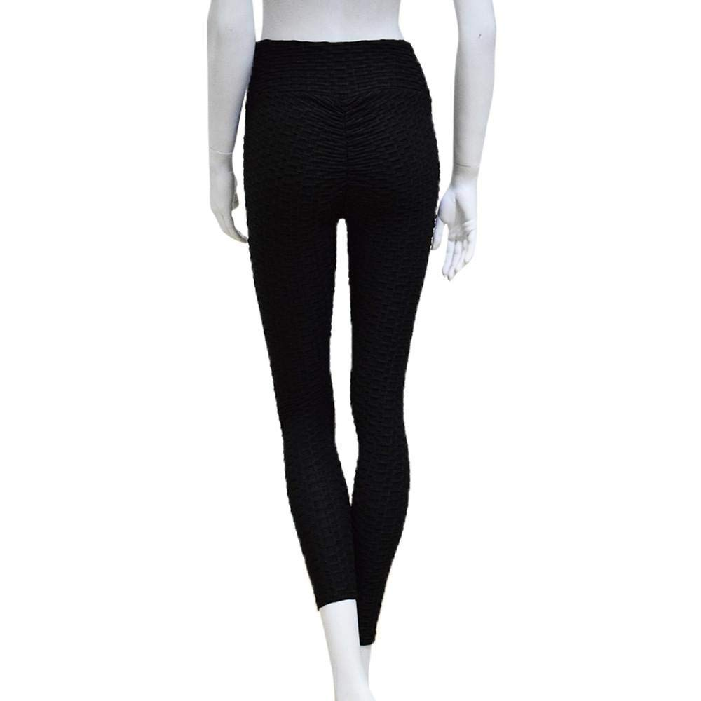 ZZpioneer Trousers for Women,Casual Daily Sport Yoga Pants,Push Up Mid Waist Slim Fit Leggings Athletic Pants