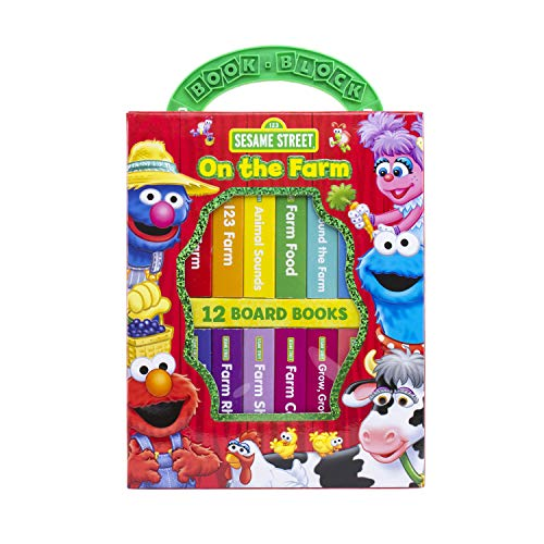 - Sesame Street - On The Farm My First Library Board Book Block 12-Book Set - PI Kids