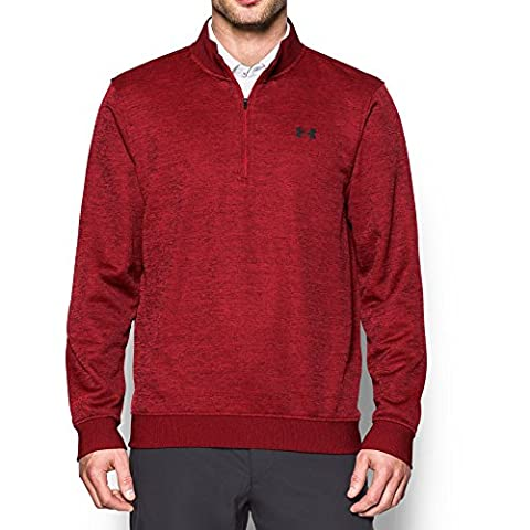 Under Armour Men's Storm SweaterFleece 1/4 Zip, Rapture Red/Rapture Red, (Under Armour Mens Pullover)