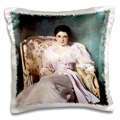 - 3dRose Lady Agnew of Lochnaw by John Singer Sargent - Pillow Case, 16 by 16-Inch (pc_128102_1)