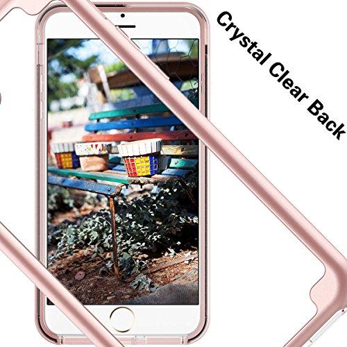 GrandEver iPhone 7molle Bumper & trasparente Custodia Cover posteriore Ultra Hybrid Cover Rigida trasparente Custodia Back Cover Slim Silicone Soft cornice posteriore ultra sottile Protective Case Cu