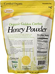 Hibee Golden Cactus Honey Powder Organic, 16 Ounce Unit