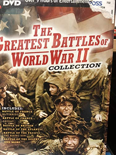 The Greatest Battles of World War II Collection - 12 Films on 4 DVD