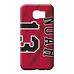 samsung galaxy s6 mobile phone back case Snap-on Sanp On pattern chicago bulls nba basketball