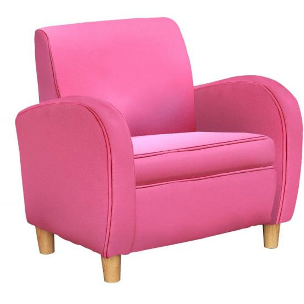 Cute pink armchair or orange tub chair for young children for Kids pink armchair