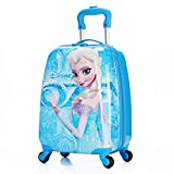 MOREFUN Ice Princesa 18'Niños Hardside Carry on Ligero Spinner equipaje