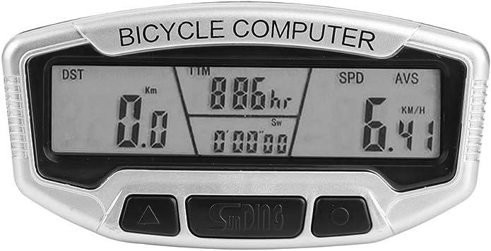 VGEBY1 Cuentakilómetros para Bicicletas, Pantalla LCD con Cable y ...