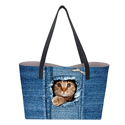 Cat mano donna 3 Borsa Large a Showudesigns qgwX7xWEW6
