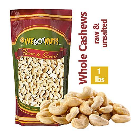 Large Whole Cashews - Cashews, Whole, Raw, Bulk Nuts - We Got Nuts (1 LB.)