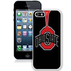 NEW Personalized Customized Iphone 5 5S Case with Ncaa Big Ten Conference Football Ohio State Buckeyes 33 Protective Cell Phone Hardshell Cover Case for Iphone 5 5s White