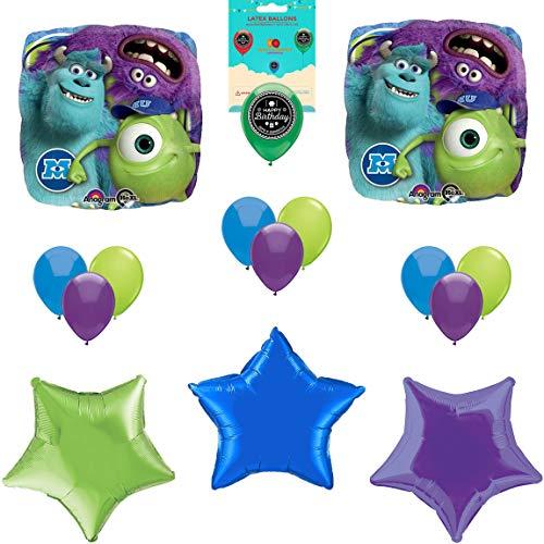 Monster's University Party Supplies Birthday Balloon Decoration Bundle]()