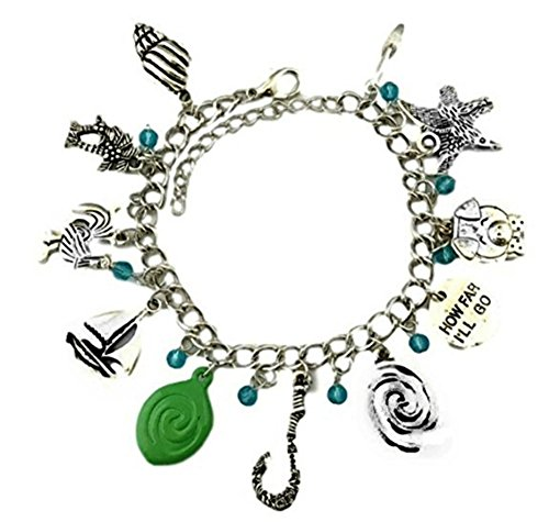 New Horizons Production Disney's Moana Princess Assorted Metal Charms Bracelet]()