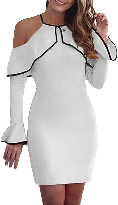 Mujer Vestido ddupnmone vestido manga larga mango boca ancha talla ...