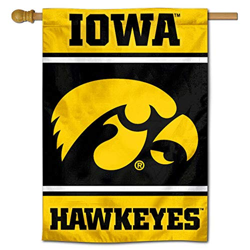 Iowa Hawkeyes Two Sided and Double Sided House - Banner Inch Side 40 2