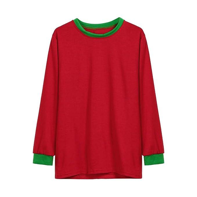Bestow Hombre Familia Navidad Pijamas Conjunto Blusa Abrigo de Servicio para Padres e Hijos Sudadera Suéter de Navidad: Amazon.es: Ropa y accesorios