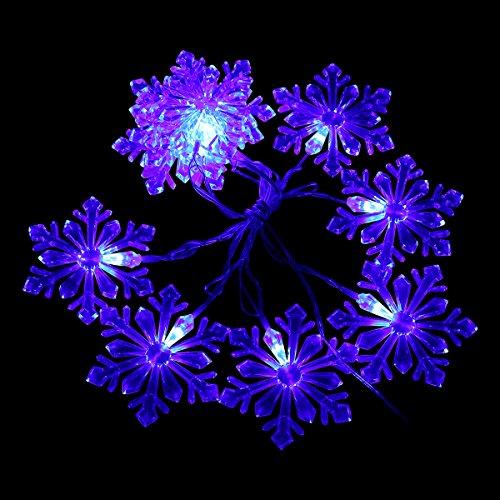 blue led snowflake lights - 2