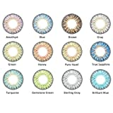12 Kind of Colored Contacts Lenses, Multicolor Cute Charm and Attractive Contact Lenses (1 PC Per Package)