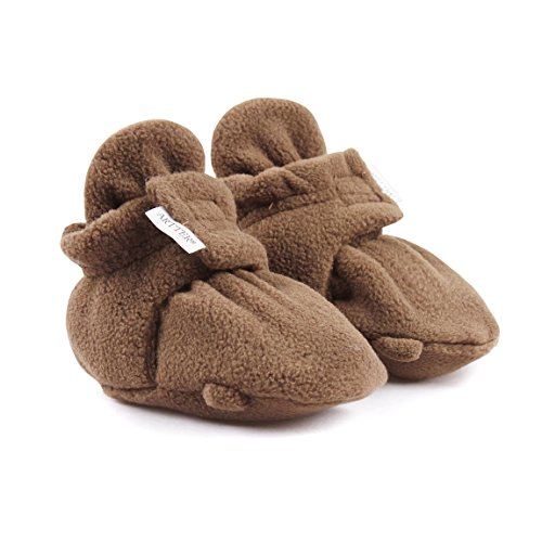 Unisex Baby Soft Cozy Fleece Booties Winter Warm Boot Shoes (Plush Booties)